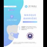 Masque Barrière Non Médical Adulte Blancs B/6 à BU