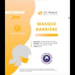 Masque Barrière Non Médical Enfant (11/16 Ans) Blancs B/6 à BU