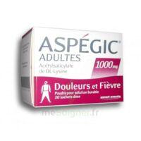Aspegic Adultes 1000 Mg, Poudre Pour Solution Buvable En Sachet-dose 20 à BU