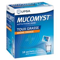 MUCOMYST 200 mg Poudre pour solution buvable en sachet B/18 à BU