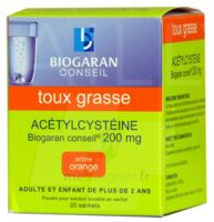 Acetylcysteine Biogaran Conseil 200 Mg Pdr Sol Buv En Sachet B/20 à BU