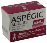 ASPEGIC ADULTES 1000 mg, poudre pour solution buvable en sachet-dose 15 à BU