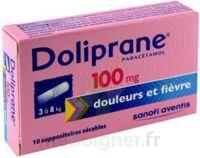Doliprane 100 Mg Suppositoires Sécables 2plq/5 (10) à BU