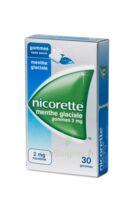 NICORETTE 2 mg Gom à mâcher médic sans sucre menthe glaciale Plq/30gom à BU