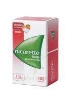 Nicorette 2 Mg Gomme à Mâcher Médicamenteuse Sans Sucre Fruits Plq/105 à BU