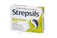 STREPSILS CITRON SANS SUCRE, pastille édulcorée à l'isomalt, au maltitol et à la saccharine sodique à BU