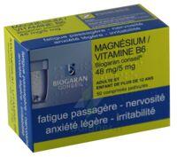 Magnesium/vitamine B6 Biogaran Conseil 48 Mg/5 Mg, Comprimé Pelliculé à BU