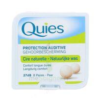 QUIES PROTECTION AUDITIVE CIRE NATURELLE 8 PAIRES à BU