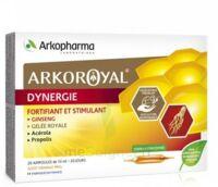 Arkoroyal Dynergie Ginseng Gelée royale Propolis Solution buvable 20 Ampoules/10ml à BU