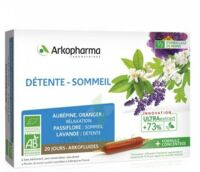 Arkofluide Bio Ultraextract Solution buvable détente sommeil 20 Ampoules/10ml à BU