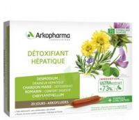 Arkofluide Bio Ultraextract Solution Buvable Détoxifiant Hépatique 20 Ampoules/10ml à BU