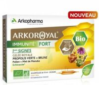 Arkoroyal Immunité Fort Solution Buvable 20 Ampoules/10ml à BU