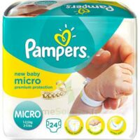 PAMPERS COUCHES NEW BABY MICRO 1-2,5 KG x 24 à BU
