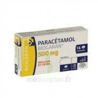 Paracetamol Biogaran 500 Mg, Comprimé Plq/16 à BU