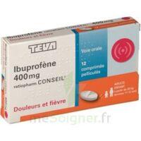 Ibuprofene Teva Conseil 400 Mg, Comprimé Pelliculé à BU