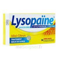 LYSOPAÏNE MAUX DE GORGE CETYLPYRIDINIUM LYSOZYME MIEL CITRON SANS SUCRE, comprimé à sucer édulcoré au sorbitol et à la saccharine à BU
