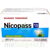 Nicopass 1,5 Mg Pastille Sans Sucre Menthe Fraîcheur Plq/96 à BU