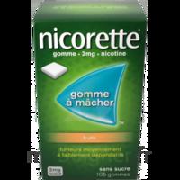 Nicorette 2 mg Gomme à mâcher médicamenteuse sans sucre fruits Plq/30 à BU