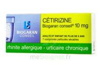 Cetirizine Biogaran Conseil 10 Mg, Comprimé Pelliculé Sécable à BU