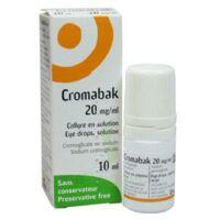 Cromabak 20 Mg/ml, Collyre En Solution à BU