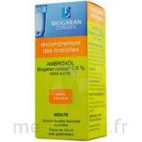 AMBROXOL BIOGARAN CONSEIL 0,6 % Solution buvable sans sucre édulcorée au sorbitol Fl/100ml+godet à BU