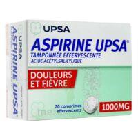 Aspirine Upsa Tamponnee Effervescente 1000 Mg, Comprimé Effervescent à BU