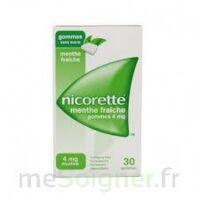 NICORETTE 4 mg Gom à mâcher médic sans sucre menthe fraîche Plq/30gom à BU