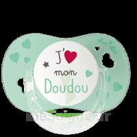 """Luc et Léa Sucette physiologique +6mois spécial bébé allaité """"J'aime mon Doudou"""" à BU"""