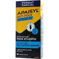 Apaisyl Anti-poux Xpress 15' Lotion Antipoux Et Lente 100ml+peigne à BU