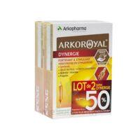 Arkoroyal Dynergie Ginseng Gelée royale Propolis Solution buvable 2B/20 Ampoules/10ml à BU